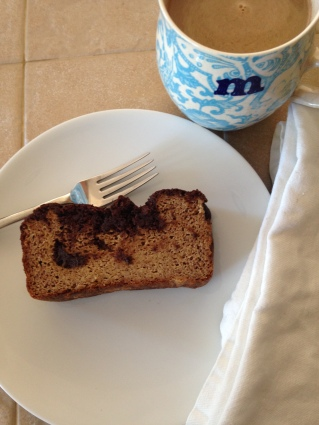 Yum! Enjoyed my slice with Blue Lotus Star Anise Chai and cashew milk.